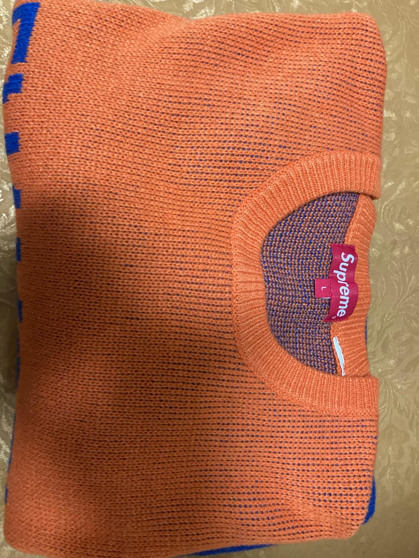 슈프림 뉴욕 스웨터 오렌지 라지