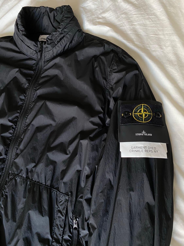 20ss 스톤아일랜드 크링클랩스 블루종 블랙 XL