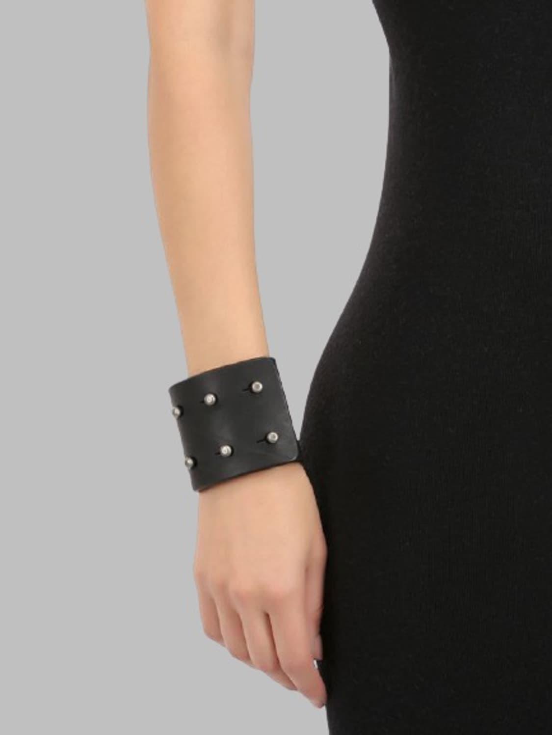 Rick Owens Black Leather Brace