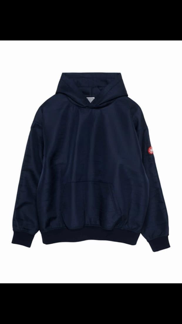 cav empt navy nylon hoodie