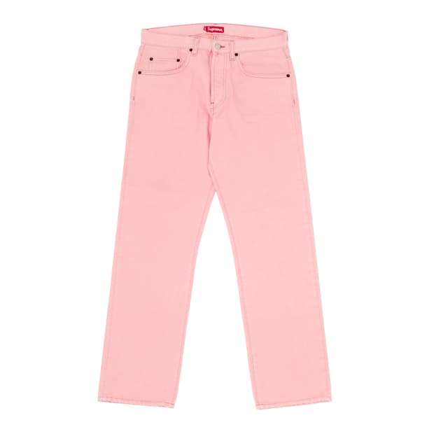 Supreme - Pink Relaxed Denim