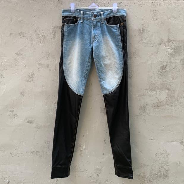 Mihara yasuhiro leather jeans