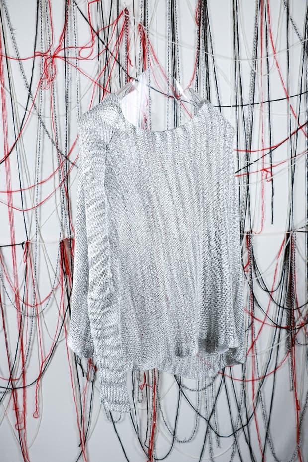 Helmut lang unbalanced knit