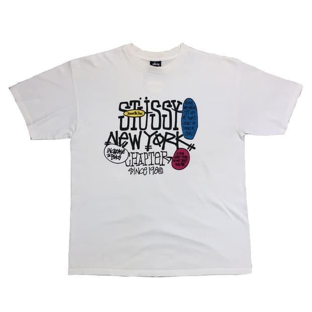 [L]스투시 로고 티셔츠