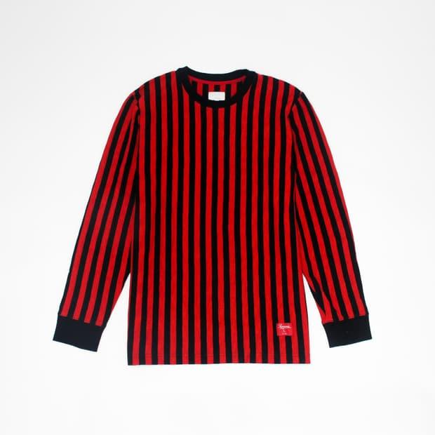 Supreme - Red Striped Sweater