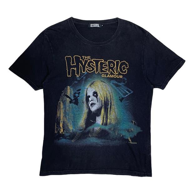 [M]히스테릭글래머 워싱 락 티셔츠