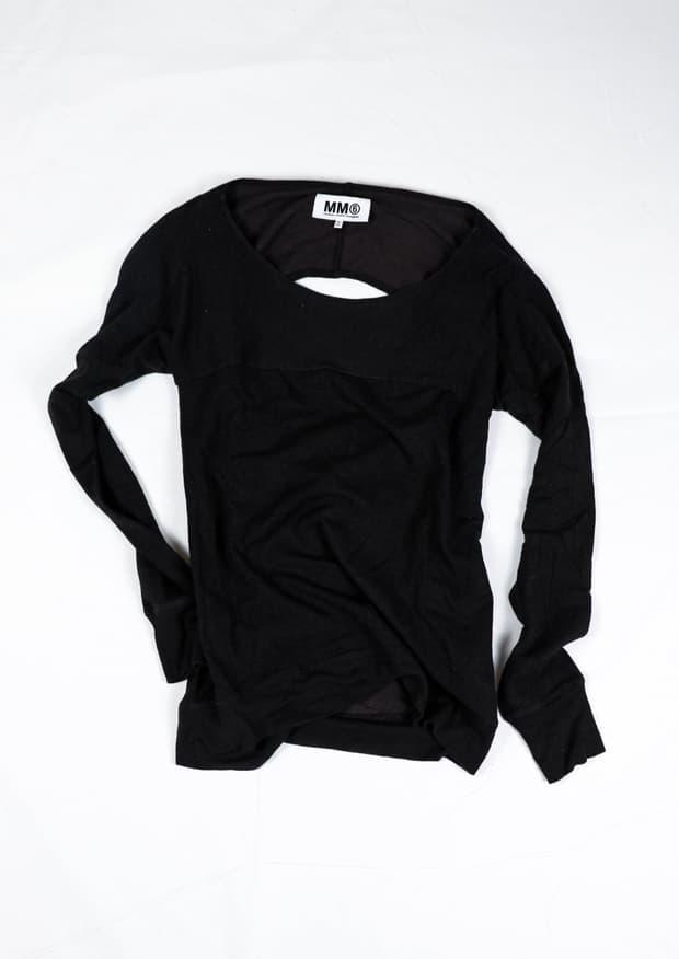MM6 back-cut knit