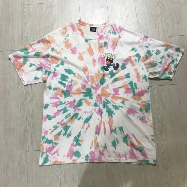 Stussy tie-dyed T-shirts