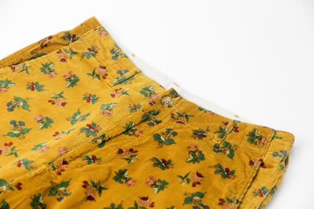 Engineered Garments - Flower Patterned Corduroy Pants